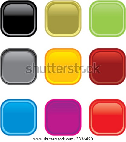 Glossy web buttons. Different colors. 2 sizes. Easy to edit color and size