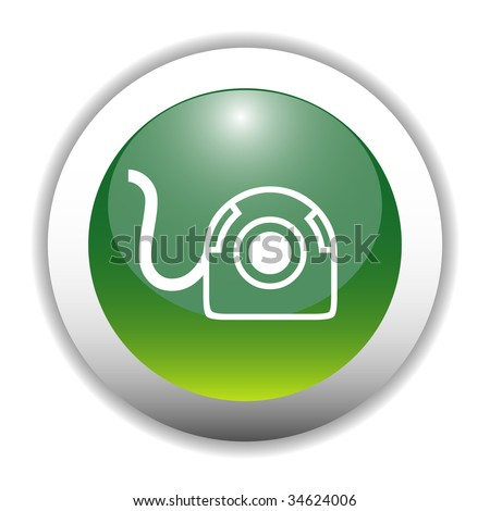 Glossy Web Cam Sign Button - stock vector
