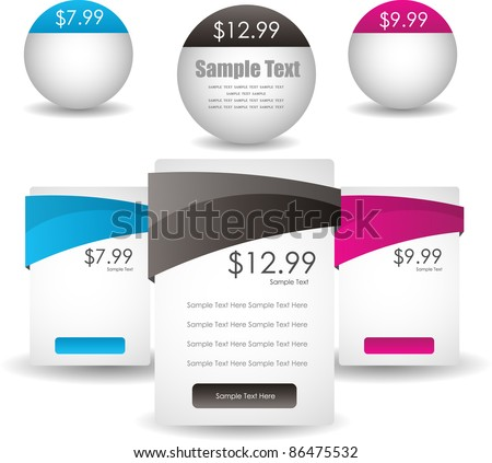 glossy web sale banners - stock vector