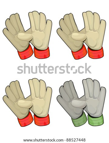 Gloves isolated - stock vector