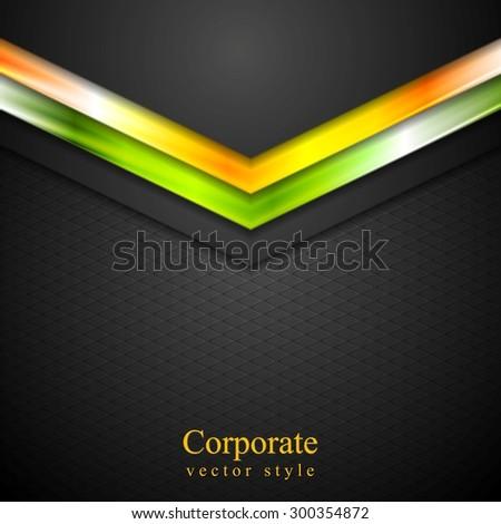 Glow neon tech arrows abstract background. Vector design - stock vector