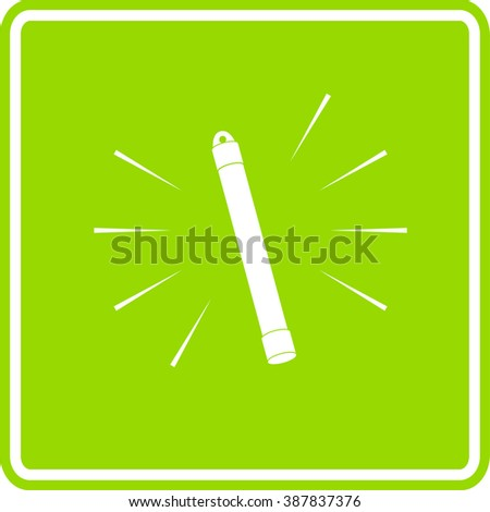 glow stick sign - stock vector