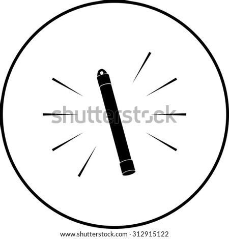 glow stick symbol - stock vector