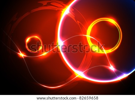 Glowing abstract background - stock vector