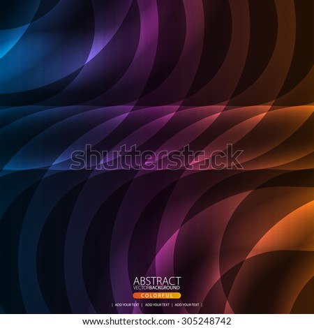 Glowing abstract background for design - stock vector
