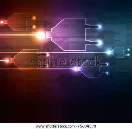 Glowing abstract background , vector illustration - stock vector