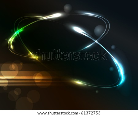 Glowing background, eps10 - stock vector