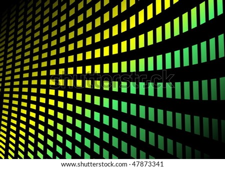 Glowing background  squares