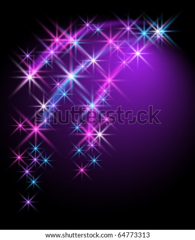 Glowing background with stars - stock vector