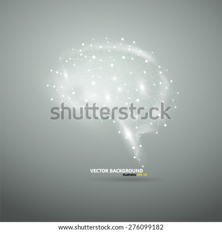 Glowing brain - stock vector