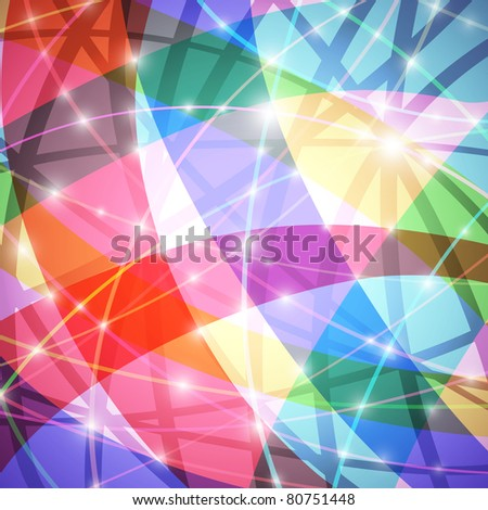 Glowing colorful abstract background, vector eps10 format - stock vector