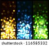 Glowing colorful christmas background. Vector eps10. - stock vector
