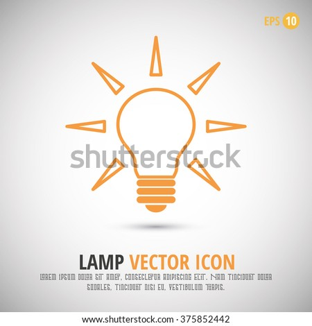 Glowing Light Bulb Icon Vector Element Design