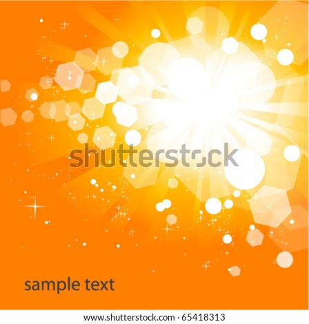 glowing orange background - stock vector
