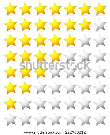 Glowing rating stars - stock vector