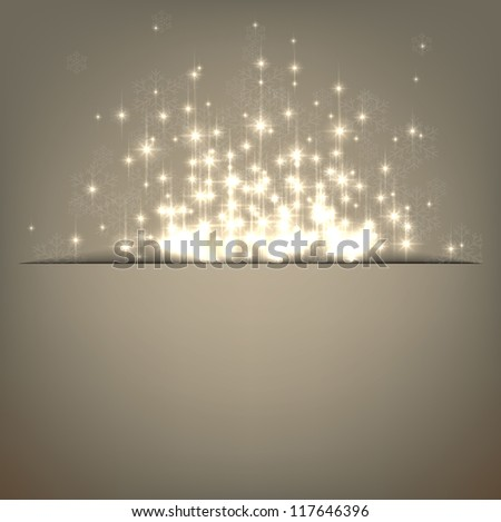 Glowing shiny christmas background. Vector eps10. - stock vector