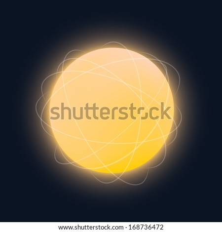 Glowing sphere vector illustration. - stock vector