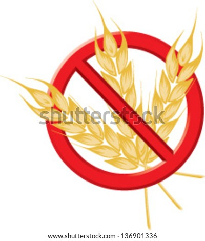 Gluten Free flash - stock vector