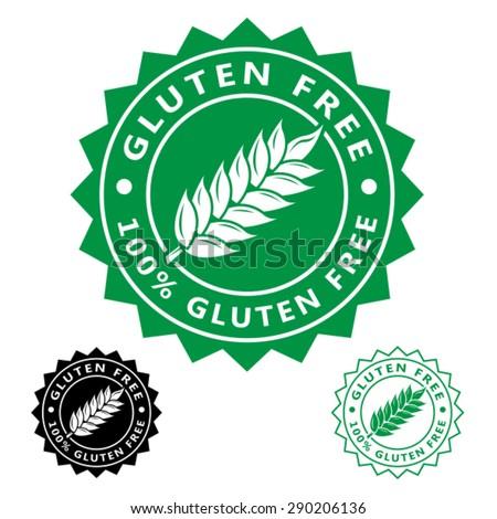 Gluten Free Seal Icon - stock vector
