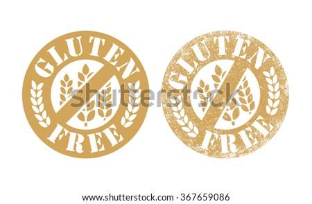 Gluten Free stamp - stock vector