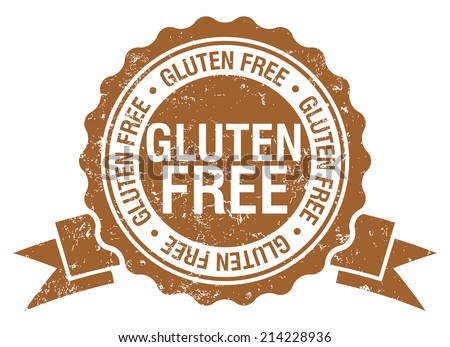 gluten free stamp with ribbon - stock vector