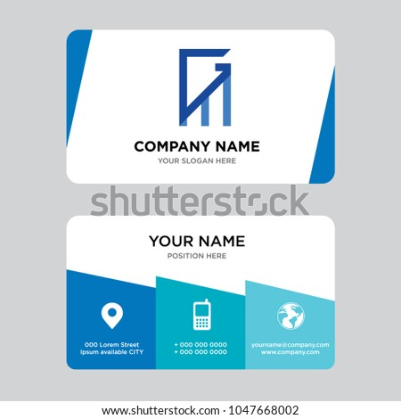 Gmmg business card design template visiting stock vector 1047668002 gmmg business card design template visiting for your company modern creative and colourmoves