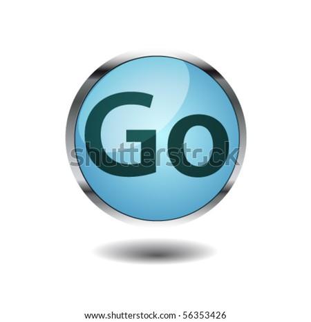 go button - stock vector