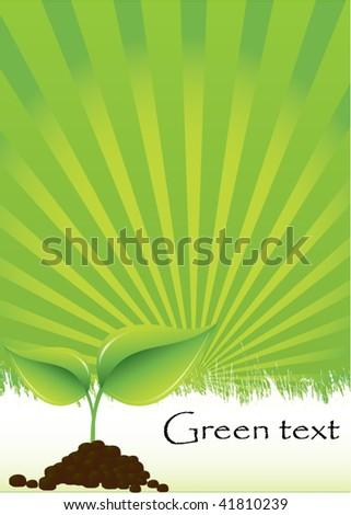 go green background - stock vector