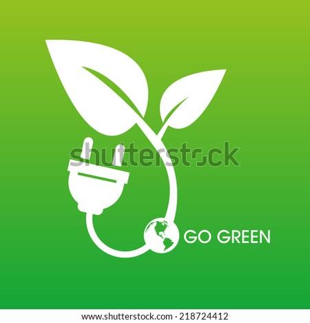 Go green concept Save world - stock vector
