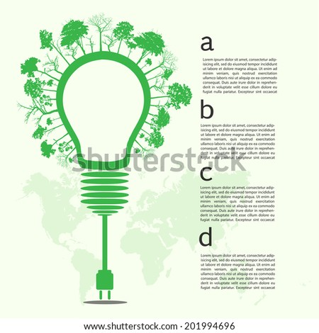 Go green concept. Save world vector Illustration