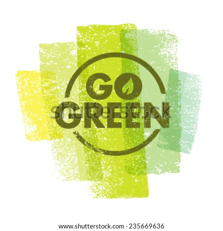 Go Green Creative Eco Vector Design Element  - stock vector