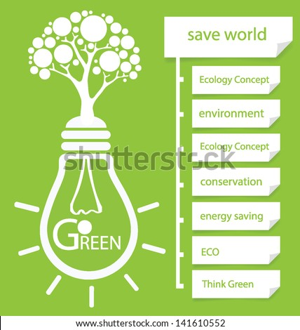 Go green. Design Template. Diagram vector illustration. - stock vector