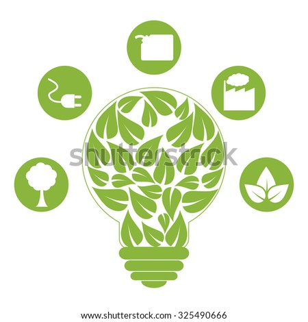 Go green ecology theme design, vector illustration.