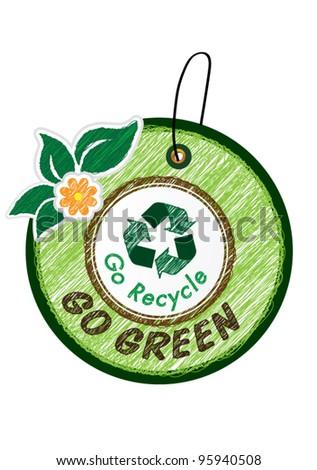 Go green icon vector illustration - stock vector