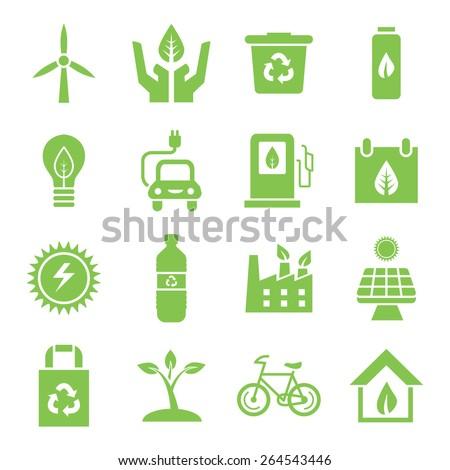 Go Green Icons - stock vector