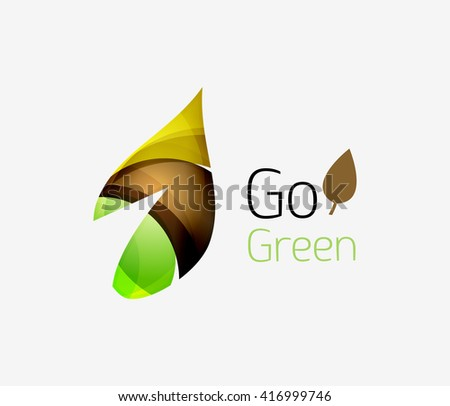Go green logo. Green nature concept. Vector illustration - stock vector