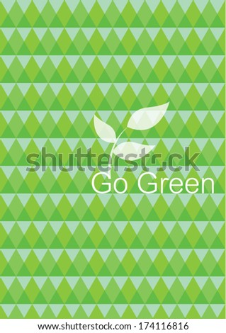 go green poster template vector/illustration