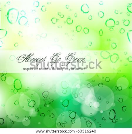 Go Green Slogan For Environmental Cover or Brochures - stock vector