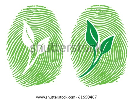 Go Green - Take it Personally - stock vector
