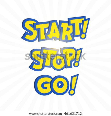 Go Style Template | Go Phrase Pokemon Go Cartoon Style Stock Vector 461631712 Shutterstock