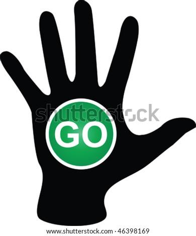 Go sign - stock vector