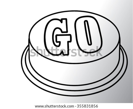 go sing outline isolated illustration - stock vector