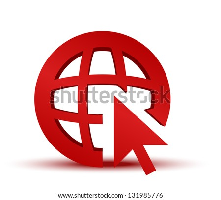 GO to web Internet icon. Vector EPS 10. - stock vector