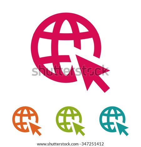 go to web . vector icon 10 EPS - stock vector
