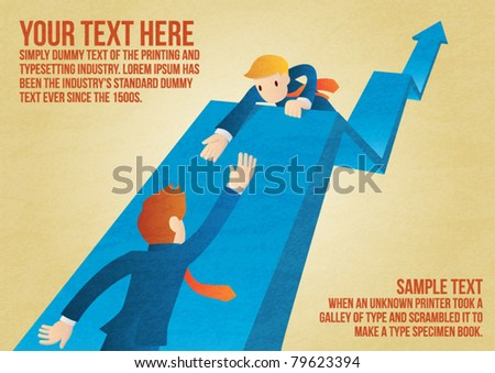 Go together, Businessman. - stock vector