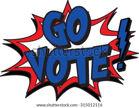 go vote - stock vector