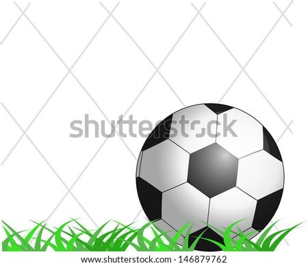 Goal. Football ball in the net. Sport (live, text translation, etc) vector illustration. - stock vector
