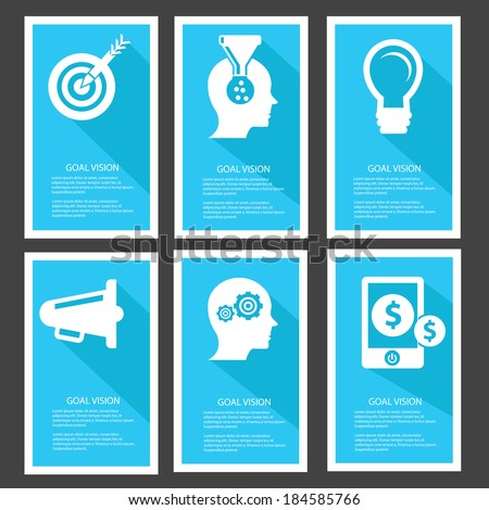 Goal management Banners,Blue version,vector - stock vector