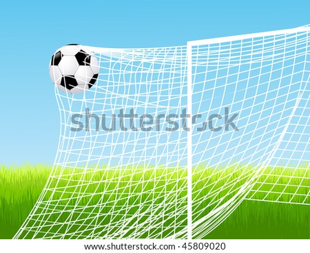 Goal, vector illustration - stock vector