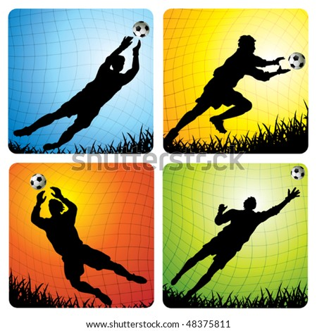 Goalkeepers - stock vector